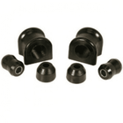 ( 1-1111BL ) Black Polyurethane Swaybar Bushing Kit for Jeep 1997-06 Wrangler With 30.5 mm Dia. Bar by Prothane