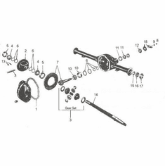 Rear Axle CJ 1946-71 Dana 41 & 44
