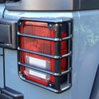 ( 1122602 ) Tail Light Euro Guards, Black, 07-17 Jeep Wrangler by Rugged Ridge