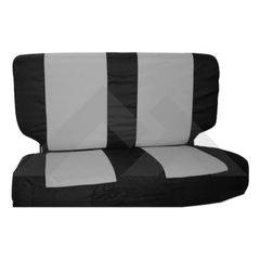 ( SCP20221 ) Rear Seat Cover & Belt Cover Set, Black & Gray, 2003-06 Wrangler TJ By RT Off-Road