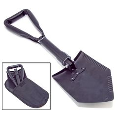 Heavy Duty Tri-Fold Recovery Shovel, Multi-use for Offroad by Rugged Ridge