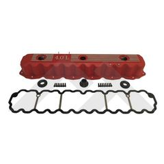 ( RT35002 ) Red Painted Aluminum Valve Cover Kit, Fits 1993-2004 Jeep Models with 4.0L engines By RT Off-Road