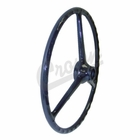 "( J0914047 ) Replacement Black Steering Wheel for 1-1/4"" Horn Button, Fits CJ2A, CJ3A, CJ3B, DJ3A, CJ5, CJ6, FC150 by Crown Automotive"