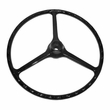 "Replacement Black Steering Wheel, for 2-1/4"" horn button, Fits 1964-1975 CJ5, 1964-1975 CJ6"