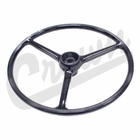 "( J0927417 ) Replacement Black Steering Wheel, for 2-1/4"" horn button, Fits 1964-1975 CJ5, 1964-1975 CJ6 by Crown Automotive"