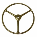 Replacement Steering Wheel, Olive Green, Fits 1950-1966 Willys Jeep M38 and M38A1 Models