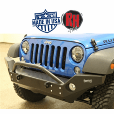( RH5006 ) Rock Hard 4x4 2007-2018 Jeep JK Wrangler Patriot Series Full Width Front Bumper