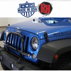 ( RH6061 ) Rock Hard 4x4 2007-2018 Jeep JK Wrangler Light Mount with Grille Guard for Factory Front Bumper