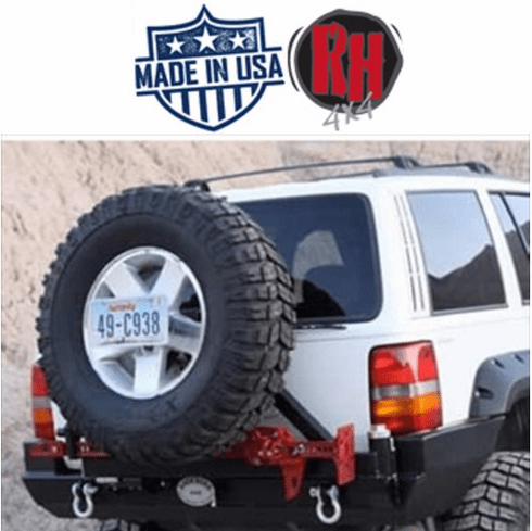 ( RH7000 ) Rock Hard 4x4 1993-1998 Jeep Grand Cherokee ZJ Rear Bumper and Tire Carrier