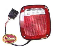 Right Side Tail Light, Black, fits 1991-95 Jeep Wrangler YJ, 1997 Wrangler TJ