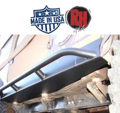 Rock Hard 4x4 Patriot Series Rocker Guards w/ Tube Sliders, Black Finish for 1976-1986 Jeep CJ7