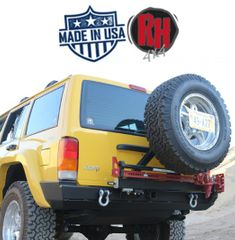 ( RH1013 ) Rock Hard 4x4 1984-2001 Jeep Cherokee XJ Rear Bumper w/Swing Out Tire Carrier