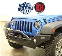 Rock Hard 4x4 2007-2017 Jeep JK Wrangler Patriot Series Full Width Front Bumper w/ Lowered Winch Mount