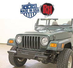 Rock Hard 4x4 Narrow Width Legendary Front Bumper for 1976-2006 Jeep CJ5, CJ7, CJ8, YJ, TJ and LJ