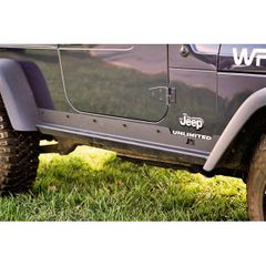 Heavy Duty Rocker Panel Guards, 97-06 Jeep Wrangler by Rugged Ridge