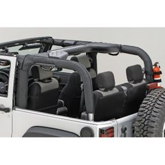 ( 1361302 ) Roll Bar Cover, Black Polyester, 07-17 Jeep Wrangler by Rugged Ridge
