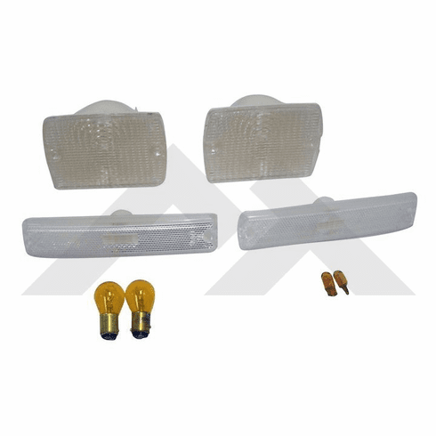 ( RT28010 ) Clear Marker & Turn Signal Lens Kit, 1987-1993 Jeep Wrangler YJ By RT Off-Road