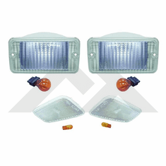 ( RT28015 ) Clear Marker & Turn Signal Lens Kit, 1997-2006 Jeep Wrangler TJ By RT Off-Road