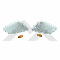 ( RT28017 ) Clear Sidemarker Lamp Kit for 1997-2006 Wrangler TJ By RT Off-Road
