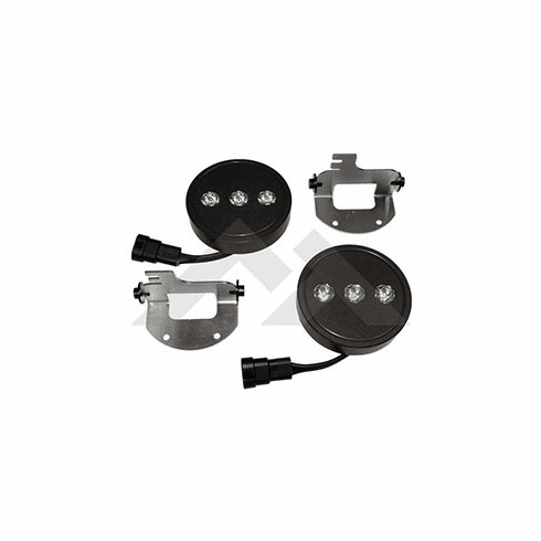( RT28038 ) LED Fog Lamp Kit for 2007-09 Jeep Wrangler JK with OEM Front Bumper By RT Off-Road