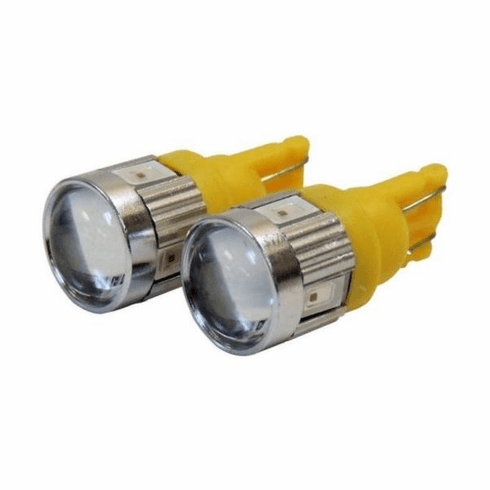( RT28062 ) 194 Amber LED Bulb Kit for 1984-18 Jeep Vehicles with Clear Lamp Kit By RT Off-Road