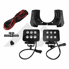 ( RT28073 ) Windshield Hinge LED Block Lamp Kit for 1997-06 Jeep Wrangler TJ By RT Off-Road