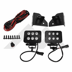 ( RT28074 ) Windshield Hinge LED Block Lamp Kit for 1976-95 Jeep CJ Series & Wrangler YJ By RT Off-Road