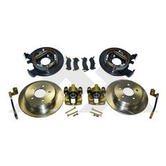 ( RT31007 ) Disc Brake Conversion Kit w/o Parking Brake Cables fits 1991-06 Jeep Vehicles with Dana 35 or Chrysler 8.25 Rear Axle without ABS by RT Off-Road