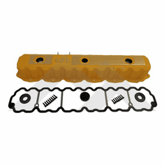 ( RT35003 ) Yellow Painted Aluminum Valve Cover Kit, Fits 1993-2004 Jeep Models with 4.0L engines By RT Off-Road