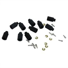 10 Pack of Rubber Shell Connector Kit Female End with 16 Gauge Wire
