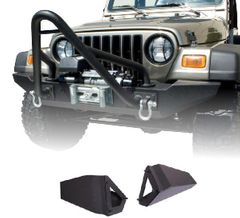 Standard Bumper Ends, XHD Front Bumper, 76-06 Jeep CJ and Wrangler by Rugged Ridge