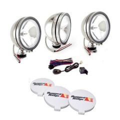 ( 1520861 ) 6-Inch Halogen Fog Light Kit, Stainless Steel Housings by Rugged Ridge