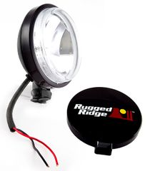 6-Inch Slim Halogen Light, Black Steel Housing by Rugged Ridge