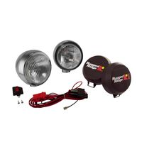 ( 1520652 ) 5-Inch Round HID Off Road Fog Light Kit, Stainless Steel Housing by Rugged Ridge