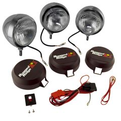 ( 1520662 ) 5-Inch Round HID Off Road Fog Light Kit, Stainless Steel Housing by Rugged Ridge