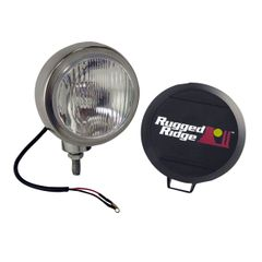 5-Inch Round HID Off Road Fog Light, Stainless Steel Housing by Rugged Ridge