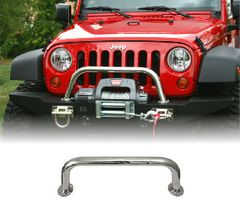 ( 1154016 ) Over Rider Center Hoop, XHD Modular Front Bumper, Stainless Steel by Rugged Ridge