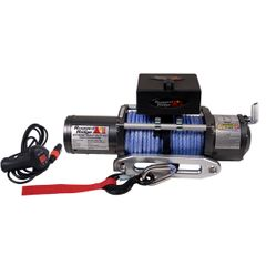 Performance 8,500 lbs Off Road Winch by Rugged Ridge with Synthetic Rope