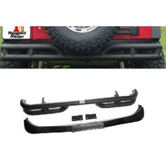 3-Inch Double Tube Rear Bumper, 07-17 Jeep Wrangler by Rugged Ridge