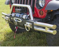( 1154073 ) Tube Ends, XHD Modular Front Bumper, Stainless Steel by Rugged Ridge