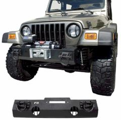 ( 1154040 ) XHD Winch Mount Front Bumper, 76-06 Jeep CJ and Wrangler Models by Rugged Ridge