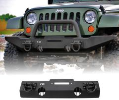 ( 1154010 ) XHD Winch Mount Front Bumper, 07-17 Jeep Wrangler by Rugged Ridge