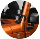 Rugged Ridge Windshield Hinge Mounts & Lights
