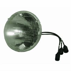 ( S-B034 ) Headlamp Sealed Beam for Military Vehicles, 24 Volt, M37, M151, M35A2 & M35A3, M809, M54, Humvee by Newstar