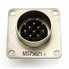 ( S-B094 ) 12 Male Pin Flange Mount Military Trailer Receptacle, Wires not included by Newstar