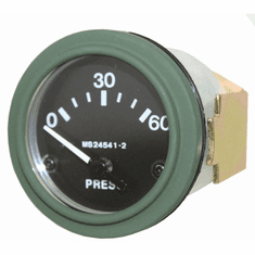 ( S-C180 ) New Electric Oil Pressure Gauge, 24 Volt for Dodge M37 Truck by Newstar