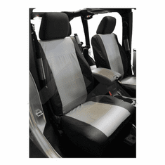 ( SC30021 ) Front Seat Covers, Black & Gray, 2007-2010 Jeep Wrangler JK By RT Off-Road