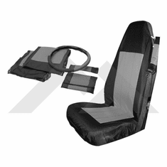 ( SCP20021 ) Front Seat Cover & Belt Cover Set, Black & Gray, 2003-06 Wrangler TJ By RT Off-Road