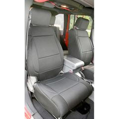 Neoprene Front Seat Covers, Black, 11-17 Jeep Wrangler by Rugged Ridge