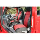 ( 1321553 ) Neoprene Front Seat Covers, Black and Red, 11-17 Jeep Wrangler by Rugged Ridge
